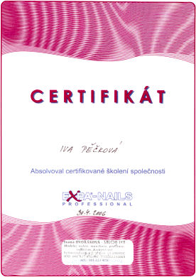 Certifikál Expa-Nails Professional 2006